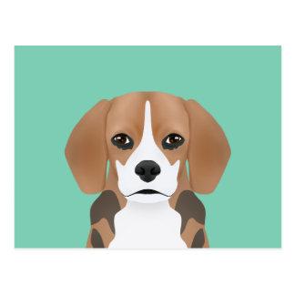 Beagle-Cartoon Postkarte