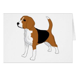 Beagle, der stehenden Hund zeichnet Mitteilungskarte