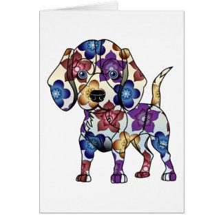 Beagle-Gruß-Karte Grußkarte