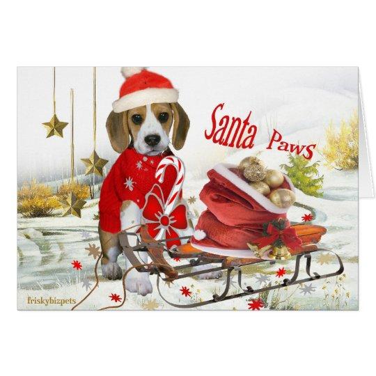 Beagle Sankt und Freundgeschenke Karte