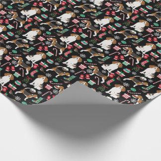 Beagle-Weihnachtshundegeschenkverpackung Einpackpapier