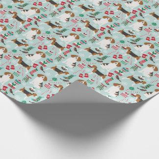 Beagle-Weihnachtshundeverpackungs-Papier Geschenkpapier