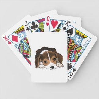Beagle-Welpe Pokerkarten