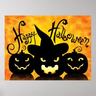 Beängstigende Halloween-Kürbise Poster