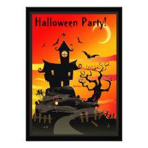 Beängstigende Spuk Haus-Halloween-Party-Einladung