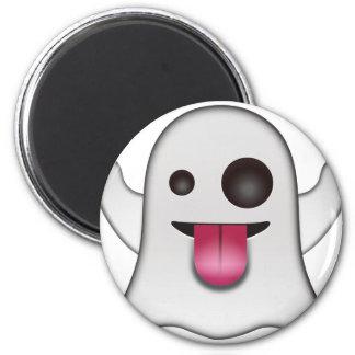 Beängstigender Geist Emoji cooler Spaß Runder Magnet 5,1 Cm