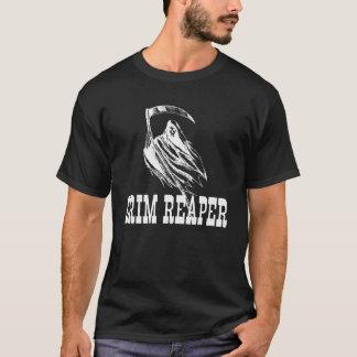 Beängstigender grimmiger Sensenmann und Sense T-Shirt