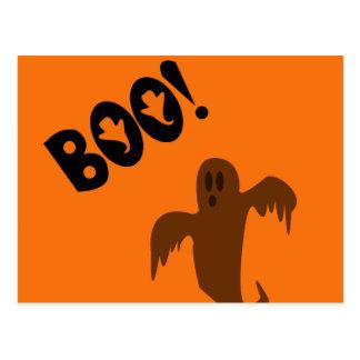Beängstigender Halloween-Geist Postkarte