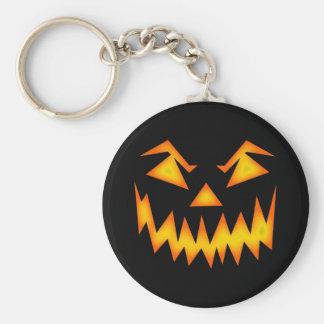 Beängstigender Halloween-Kürbis Standard Runder Schlüsselanhänger