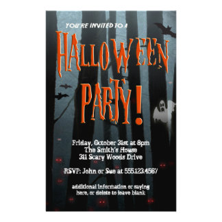 Beängstigender Holz-Halloween-Party-Flyer 14 X 21,6 Cm Flyer