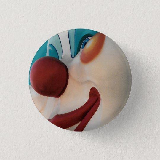 Beängstigender lächelnder Zirkus-Clown-kleiner Runder Button 2,5 Cm