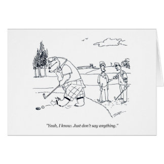 Bearly Golfgolf-Cartoon-Spaß-Grußkarte Karte