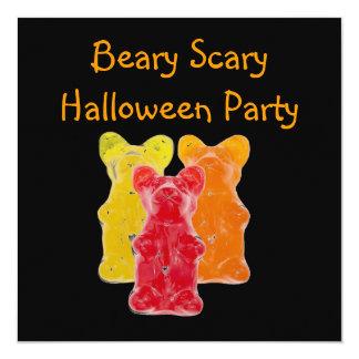 Beary beängstigendes gummiartiges quadratische 13,3 cm einladungskarte