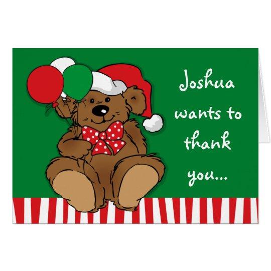 Beary Weihnachtsgeburtstag danken Ihnen zu merken Mitteilungskarte