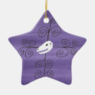 Beastie Schädel blühen Keramik Stern-Ornament