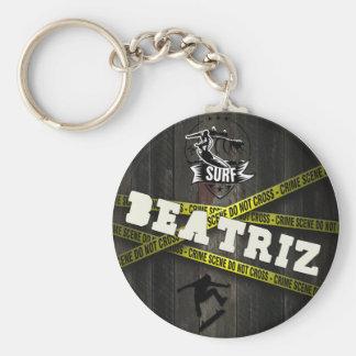 BEATRIZ - Skater Style Standard Runder Schlüsselanhänger