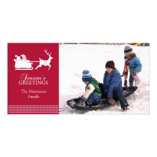 Beau carte photo de Noël de Père Noël (Bourgogne) Cartes De Vœux Avec Photo