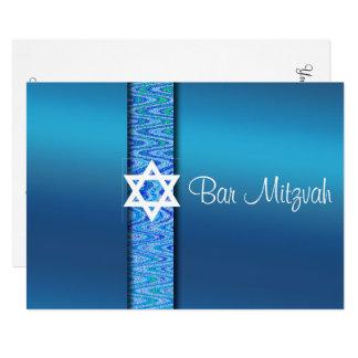 Beau, invitation de Mitzvah de barre, étoile de