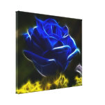 Beau rose de bleu toiles tendues sur châssis