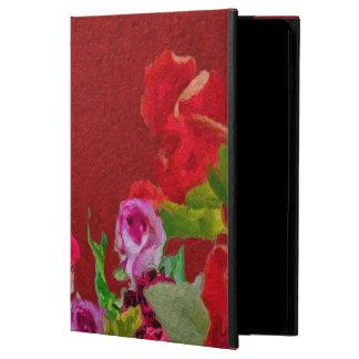 Beau rouge abstrait floral