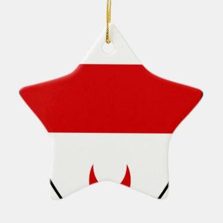 Beäugeln Sie Keramik Stern-Ornament
