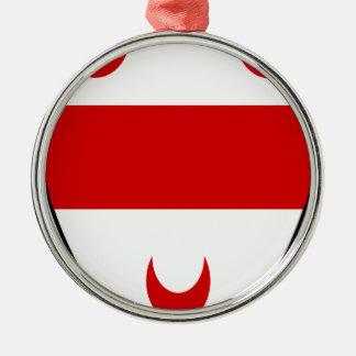 Beäugeln Sie Rundes Silberfarbenes Ornament