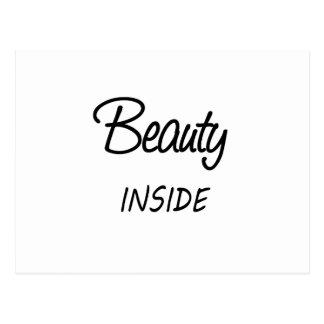 beauté à l'intérieur carte postale