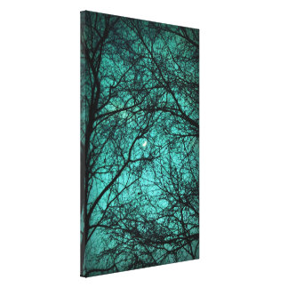Beautiful Darkness - Half-Moon in the Trees Leinwanddruck