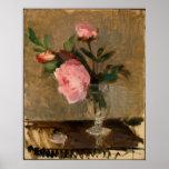 Beaux-arts de Berthe Morisot de pivoines Poster
