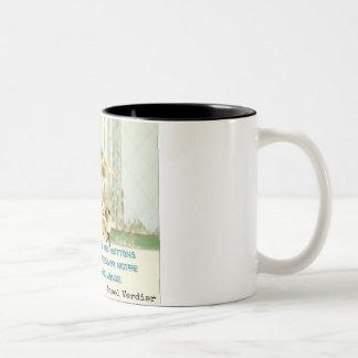 Becher für Autor: die Kunst ist es… Zweifarbige Tasse