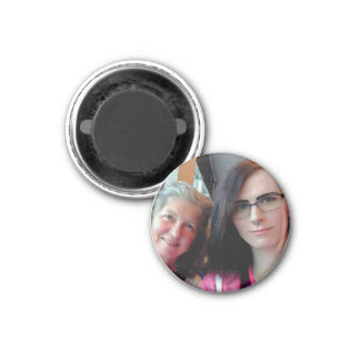 Becky and Lily Round Magnet