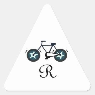 becycler dreieckiger aufkleber