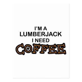 Bedarfs-Kaffee - Holzfäller Postkarte