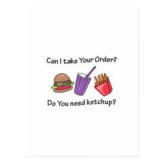 Bedarfs-Ketschup? Postkarte