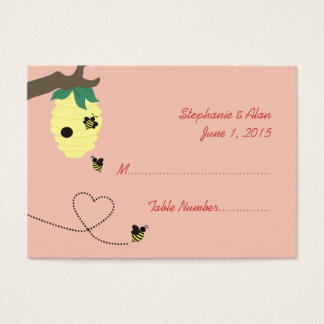 Bedeutet zu den Bienen-Hochzeits-Platzkarten Visitenkarte