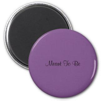 Bedeutete, der Magnet zu sein (lila)