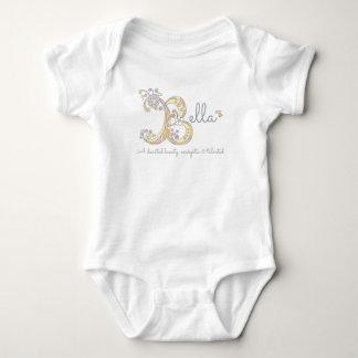 BEDEUTUNGS-Monogrammbaby Bella Mädchen B kleidet Baby Strampler