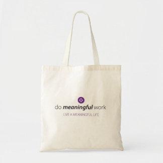 Bedeutungsvolle Arbeits-Tasche Tragetasche