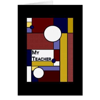 Bedeutungsvoller Lehrer - danke zu kardieren Karte