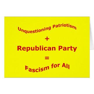 Bedingungsloser Patriotismus Karte
