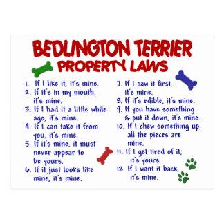 BEDLINGTON TERRIER Eigentums-Gesetze 2 Postkarte