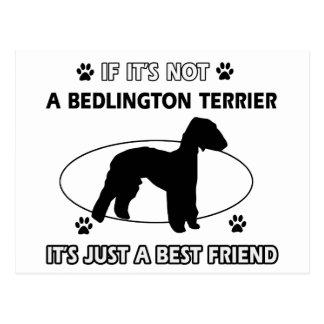 BEDLINGTON TERRIER Entwürfe besten Freunds Postkarte