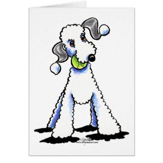 Bedlington Terrier ließ uns spielen Karte