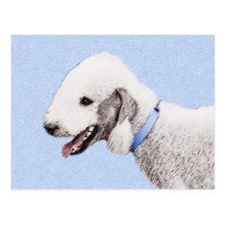 Bedlington Terrier Malen - ursprüngliche Postkarte