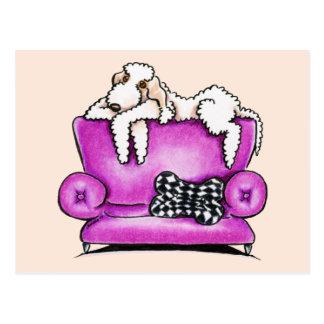Bedlington Terrier Tiko Postkarte