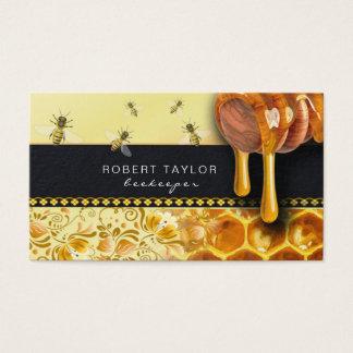 Beekeeper Honey Seller Bee Farm Farmer Card Visitenkarte