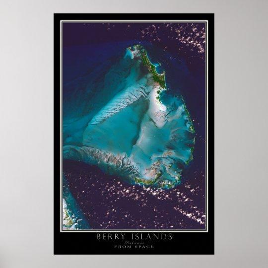 Beeren-Inseln Bahamas von der Poster