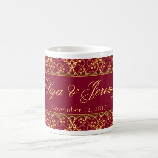 Beeren-rote Gruppen-Hochzeits-Tasse