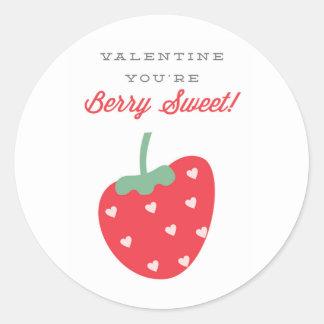 Beeren-süßer Valentinsgruß-Aufkleber Runder Aufkleber