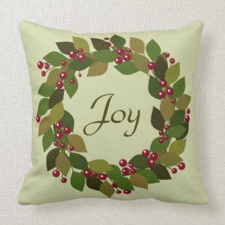 Beerenund BlätterWreath | der Freude-|, das Sie Kissen